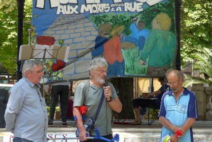 Pas de cérémonie à Grenoble cette année, mais le collectif Mort de rue rappelle que vivre à la rue tue toujours