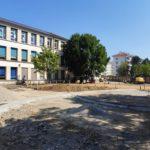 École Clémenceau à Grenoble : visite d'une future cour d'école « débitumisée et dégenrée »