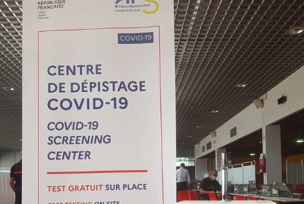 Dépistage systématique et obligatoire à l'aéroport de Lyon Saint-Exupéry. © Aéroport de Lyon Saint-Exupéry