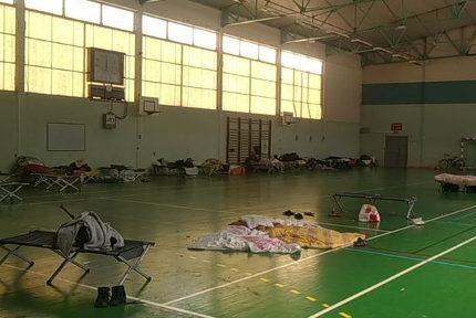 UNe vingtaine de personnes menacées d'expulsion du gymnase de la Houille blanche. DR