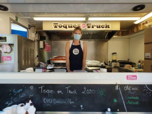 Elodie Hué, cuisinière de la tournée Toques en truck