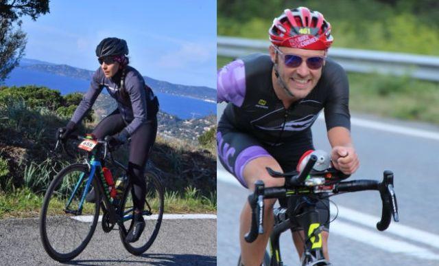 Lætitia Harhour et Rémi Loubet ont établi les premiers records du trajet isérois du Tour de France 2020 © Département de l'Isère
