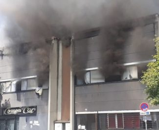 Incendie quartier Villeneuve de Grenoble dans un local occupé par des personnes sans-papiers