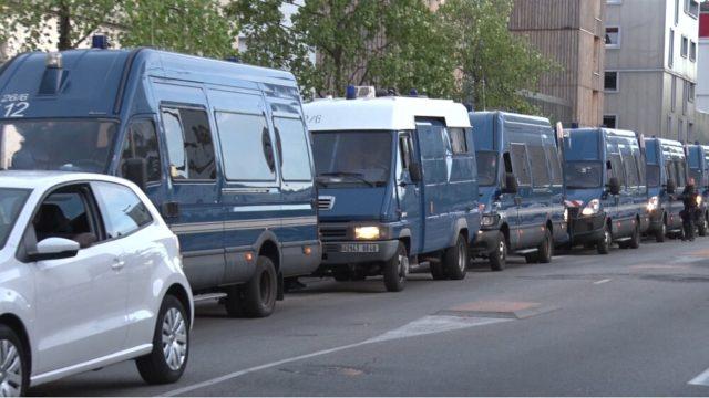 Mistral : opération de police après la vidéo virale de dealers Important déploiement de police ce mercredi 26 août quartier Mistral. © Joël Kermabon - Place Gre'net