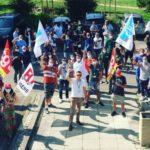 Les manifestants s'apprêtent à négocier © UNSA CHUGA