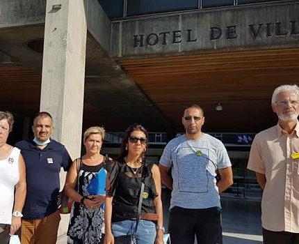 COUV Des représentants du syndicat FO et trois agents en procès contre la Ville de Grenoble août 2020 © Séverine Cattiaux - Place Gre'net