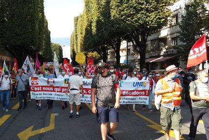 Rentée syndicale à Grenoble. © Joël Kermabon - Place Gre'net