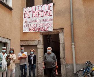 COUV Action du collectif de défense des habitants de la rue Chenoise contre les nuisances sonores, dimanche 20 septembre 2020 © Séverine Cattiaux - Place Gre'net