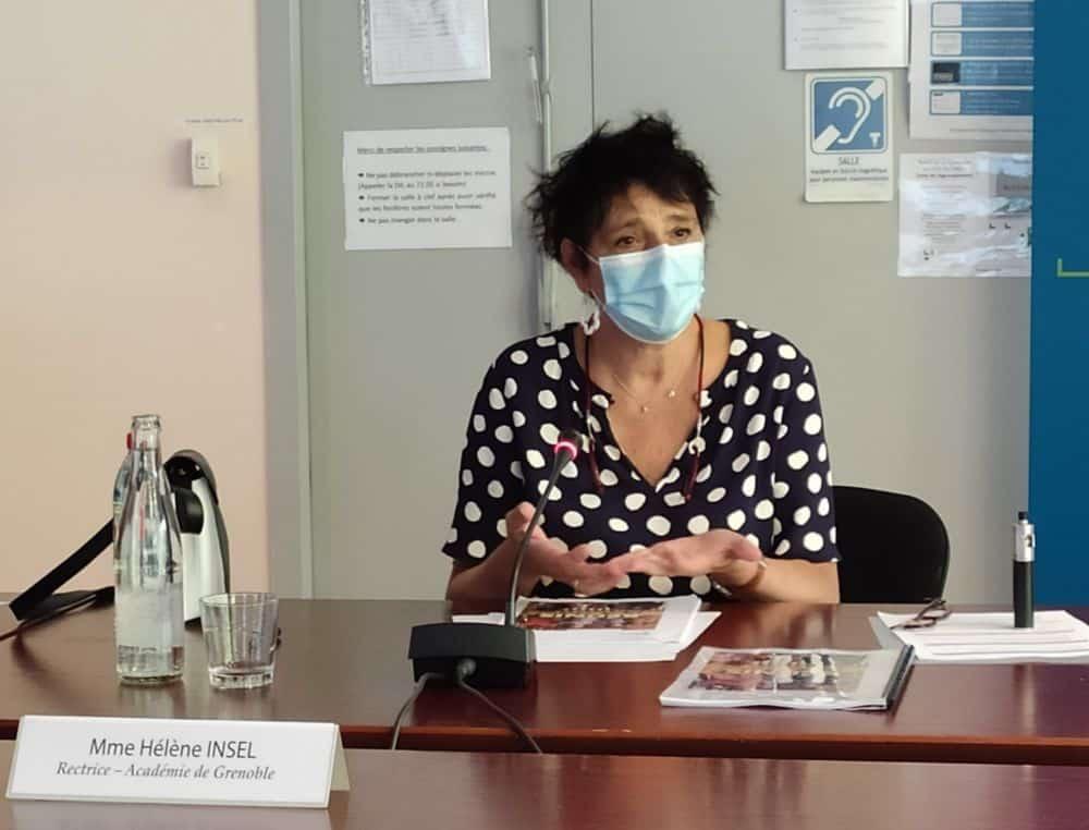 """Une rentrée quasi """"normale""""… avec déjà des mobilisations. Hélène Insel, rectrice de l'académie de Grenoble © Florent Mathieu - Place Gre'net"""