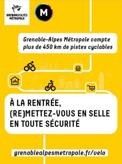 A la rentrée, (re)mettez-vous en selle en toute sécurité : Grenoble-Alpes Métropole compte plus de 450 km de pistes cyclables.