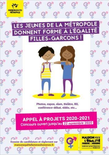 """Appel à projets """"Jeunes pour l'égalité"""". Visuel de l'appel à projet """"Jeunes pour l'égalité"""" © Métropole de Grenoble"""