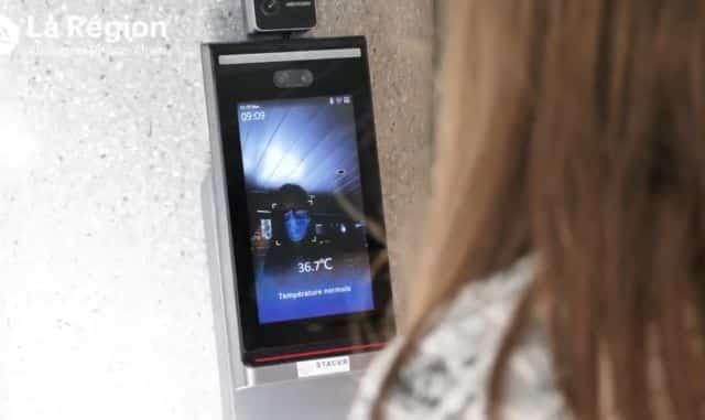 Les caméras thermiques peuvent détecter de la fièvre en dix secondes © Région Auvergne-Rhône-Alpes