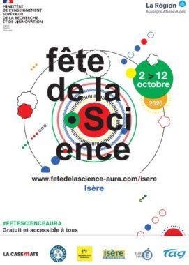 Affiche officielle Fête de la Science 2020 © La Région Auvergne-Rhône-Alpes