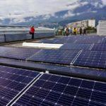 Autre partie de l'installation photovoltaïque sur le toit de la mairie d'Échirolles © Simon Marseille - Place Gre'net