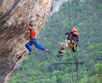 L'escalade au coeur du festival Ciné montagne. © Lafouche