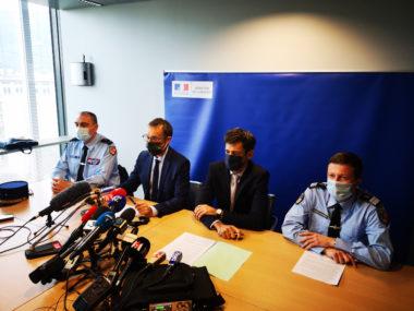 Première conférence de presse sur l'affaire du meurtre de Victorine. © Joël Kermabon - Place Gre'net