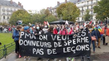 Manifestation des pro-PMA pour toutes. © Joël Kermabon - Place Gre'net