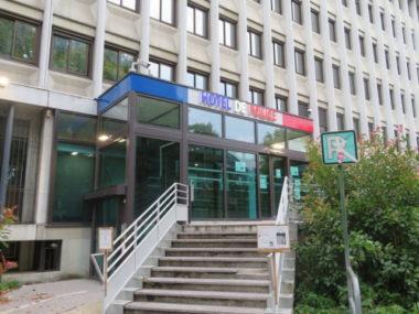 Grenoble : nouveaux tirs de mortiers et jets de projectiles.L'hôtel de police de Grenoble. © Place Gre'net Tim Buisson