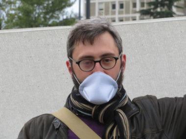 Jérémie Giono, secrétaire départemental du PCF Isère. © Tim Buisson - Place Gre'net.