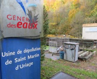 La station d'épuration du Sonnant dans la combe de Gières. © Tim Buisson – Place Gre'net