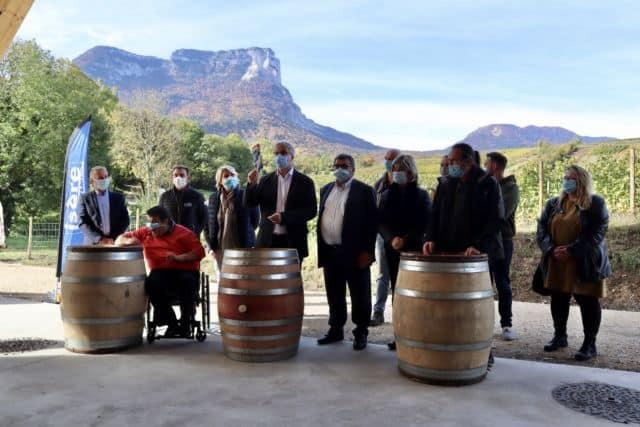 Signature de la Charte en faveur de la viticulture iséroise le 20 octobre 2020 à Chapareillan © Conseil départemental de l'Isère