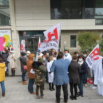 Manifestation le jeudi 26 novembre 2020 devant le GHM. © Tim Buisson – Place Gre'net