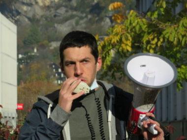 IUT2 : action pour des rattrapages et un remboursement. Quentin, militant à l'Unef. © Tim Buisson – Place Gre'net