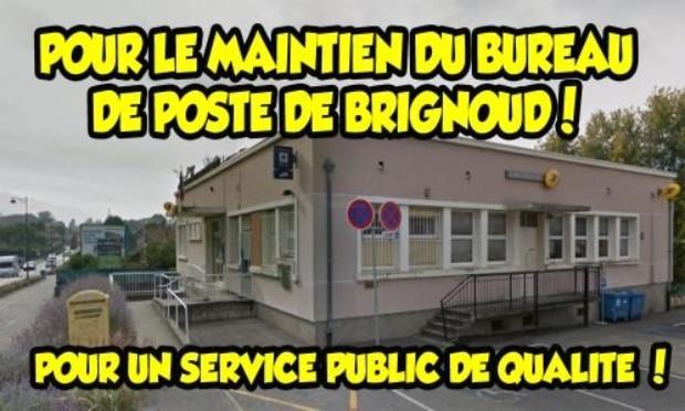 Visuel de la pétition pour le maintien du bureau de Poste de Brignoud. DR