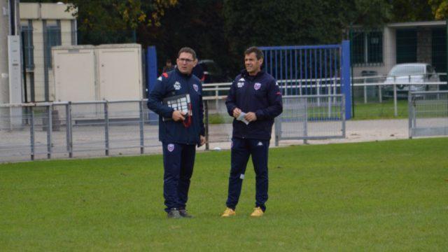 Sylvain Begon et Stéphane Glas, entraîneurs du FC Grenoble rugby