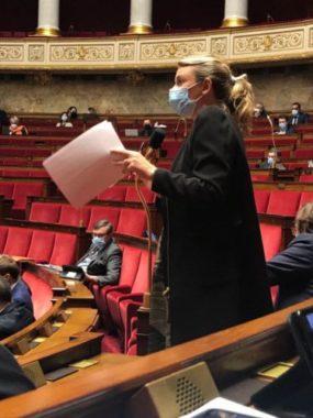"""Élodie Jacquier-Laforge a voté la loi """"sécurité globale"""".Élodie Jacquier-Laforge à l'Assemblée nationale. © Photo DR"""