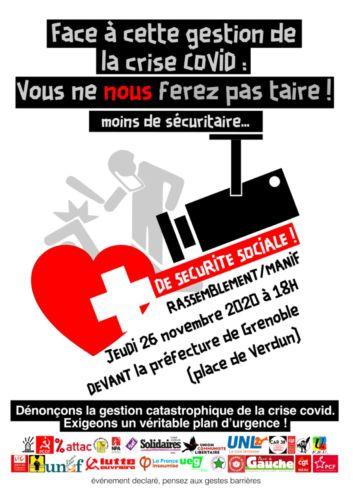 Une trentaine d'organisations appellent au rassemblement le 26 novembre à Grenoble.