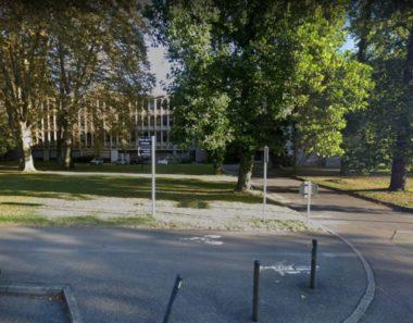 Campus de Grenoble : explosion dans un laboratoire.La vue du 301 rue de la chimie ou l'explosion a eu lieu en fin d'après-midi. © Google Maps