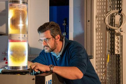 Paul Tafforeau, scientifique de l'ESRF. © ESRF