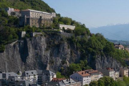 Vue sur le Rabot à la Bastille. © Ville de Grenoble