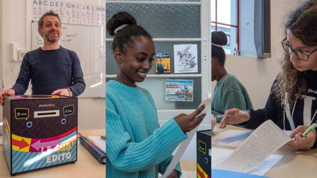 Le Cub'Édito veut favoriser le goût de la lecture, voire de la création, dans les salles de classe © Short Édition
