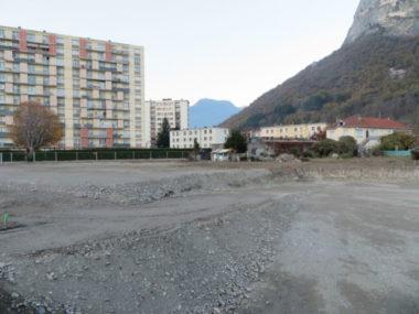 Les travaux de terrassement des Jardins de la Buisserate ont débuté le lundi 2 novembre. © Tim Buisson – Place Gre'net