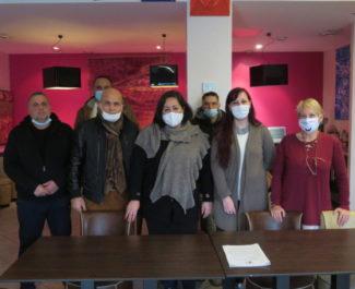 Les élus du groupe Socialistes, radicaux et citoyens, ensemble pour la sociale-écologie. © Tim Buisson – Place Gre'net