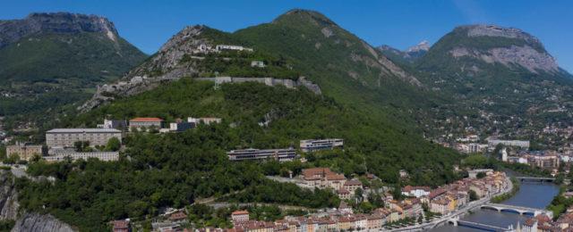 Le site de la Bastille sur toute son étendue. © Ville de Grenoble