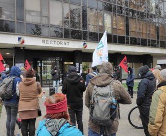 Enseignants, personnels et lycéens ont fait entendre (encore) leur colère devant le rectorat de Grenoble