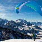 Vol libre : les alternatives au ski de piste.Parapente en hiver © Pixabay
