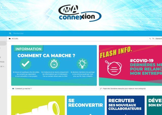 La plateforme CMA connexion se veut pensée pour les chefs d'entreprises artisanales