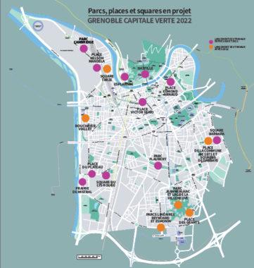 """parcs, places et squares en projets, """"Grenoble capitale verte 2022"""" DR"""