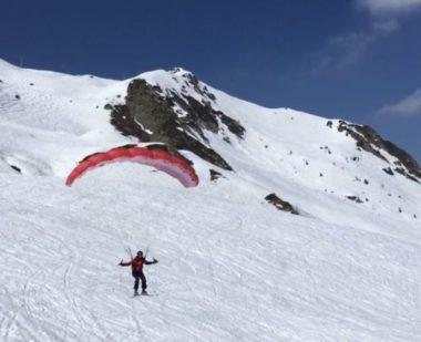 Vol libre : les alternatives au ski de piste. Speedriding aux 7 Laux © Laure Gicquel -Place Gre'net