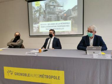 De gauche à droite : Nicolas Beron-Perez, Christophe Ferrari et Pierre Verri. © Joël Kermabon - Place Gre'net
