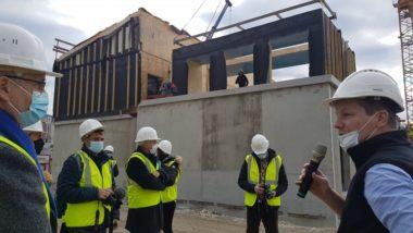 Collège Lucie Aubrac en construction, jeudi 21 janvier 2021 © Séverine Cattiaux - Place Gre'net