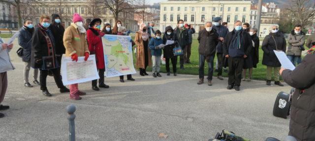 Rassemblement place Verdun le samedi 9 janvier 2021 pour réclamer justice après l'assassinat d trois militantes kurdes en 2013. © Tim Buisson – Place Gre'net