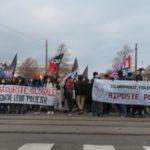 Manifestations contre les lois liberticides le samedi 16 janvier 2021 à Grenoble. © Tim Buisson – Place Gre'net
