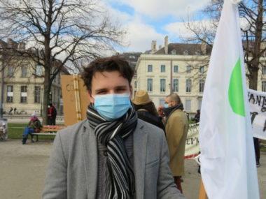 Hugo Prévost, président de l'UEG fait face à la détresse des étudiants. © Tim Buisson – Place Gre'net