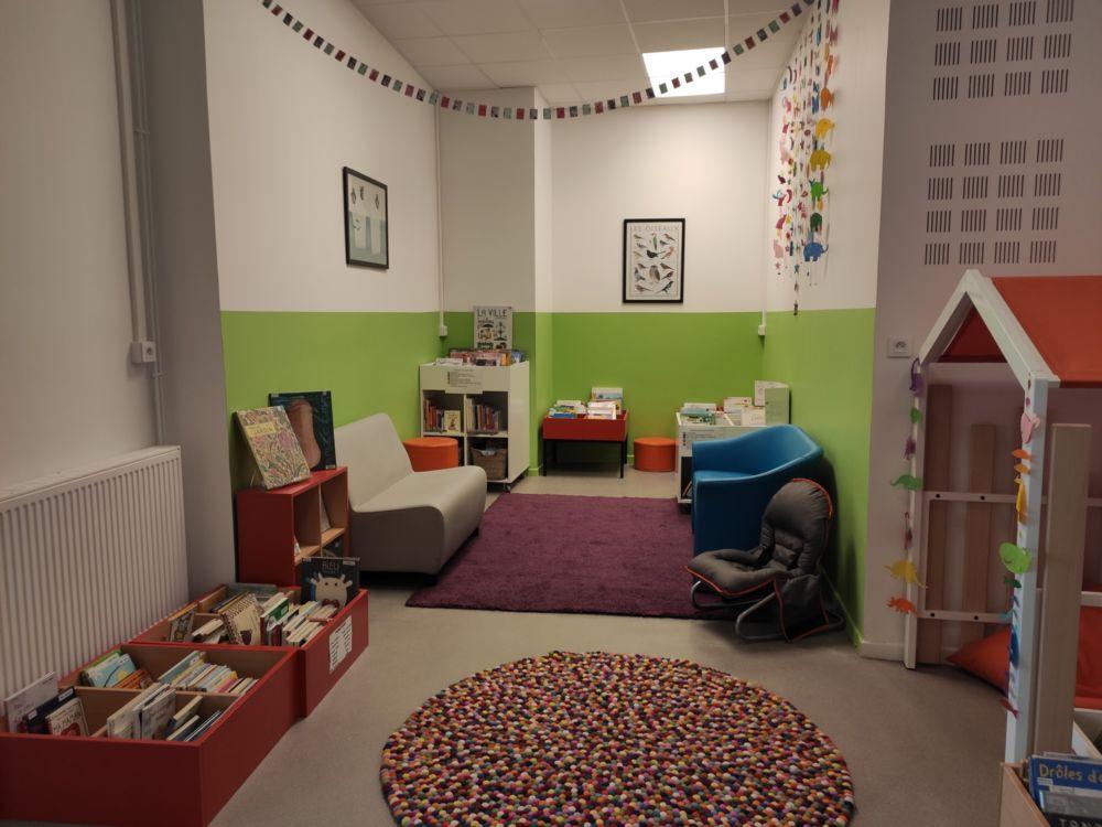 Un espace enfant feutré et chaleureux © Florent Mathieu - Place Gre'net