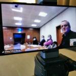 La conférence de presse du groupe d'Alain Carignon avait lieu en présentiel et en distanciel. © Joël Kermabon - Place Gre'net